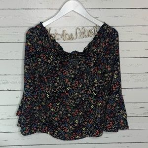 Lucky Brand Tops - Lucky Brand Off The Shoulder Micro Floral Top